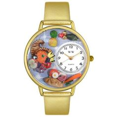 Whimsical Watches Women's G1220037 Unisex Gold Holiday Feast Gold Leather And Goldtone Watch Whimsical Watches. $40.99. Holiday meal design. Plastic crystal; gold tone stainless steel case; leather strap. Gold tone second hand. Japanese quartz movement. Comes in gift box. Save 57%!