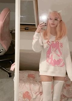 tik tok; @ kyaandere uploaded by bub on We Heart It Edgy Outfits, Girl Outfits, Cute Outfits, Fashion Outfits, Princess Outfits, Kawaii Fashion, Cute Fashion, Look Fashion, Pastel Fashion
