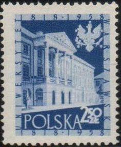 Znaczek: Warsaw University (Polska) Mi:PL 1056,Sn:PL 815,Yt:PL 933,Pol:PL 911