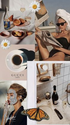 Discover recipes, home ideas, style inspiration and other ideas to try. Glam Wallpaper, Vogue Wallpaper, Iphone Background Wallpaper, Aesthetic Pastel Wallpaper, Fashion Wallpaper, Aesthetic Backgrounds, Aesthetic Wallpapers, Mode Collage, Aesthetic Collage