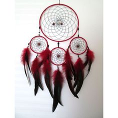 Custom Dreamcatcher ❤ liked on Polyvore featuring home, home decor and handmade home decor