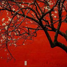 ~~ China Red ~ flowering tree, Tian'anmen  Square, Beijing, China by peterrobinsonjr~~