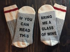 Bring me wine socks, if you can read this, christmas for her, stocking stuffer…