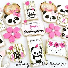 """""""Because I could watch you for a single minute and find a thousand things I love about you. Panda Themed Party, Panda Birthday Party, Panda Party, Bear Party, Bear Birthday, Birthday Cookies, First Birthday Parties, Birthday Party Themes, First Birthdays"""