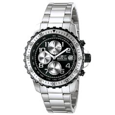 Invicta Men's 6000 Pilot Collection Stainless Steel Chronograph Watch