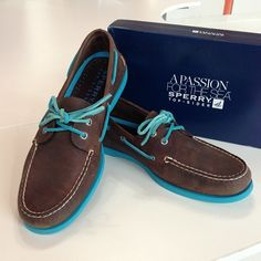 My new brown/blue Sperry's!