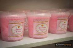 adesivos para algodão doce // Kit Festa Princesa rosa e dourado // Produção da Algodão doce