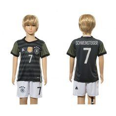 Tyskland Trøje Børn 2016 Bastian #Schweinsteiger 7 Udebanetrøje Kort ærmer,199,62KR,shirtshopservice@gmail.com