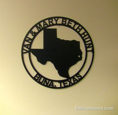 Texas Official Name and City Sign