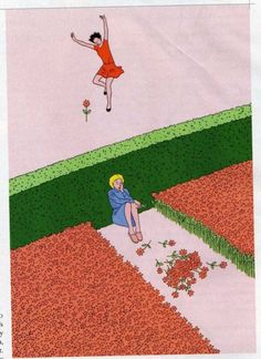 meatinjection:  the girl with all the flowers is sad