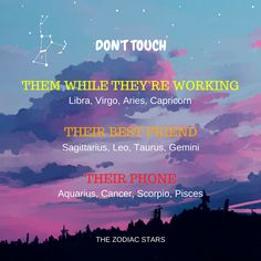 The Zodiac Stars // The Zodiac Signs don't want you to touch and mess with...