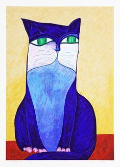 Blue cat - Aldemir Martins