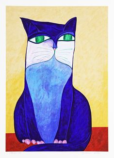 Blue cat - Aldemir Martins