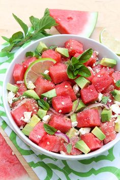 The summer salad that won't let you down... Avocado, Watermelon & Mint Salad with Feta Cheese — The Fountain Avenue Kitchen