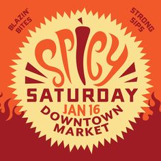 Escape the cold and spice up your Saturday with fiery flavors being served throughout the Market Hall. This is a one-day-only event featuring hot items and other sizzling specials. #grandrapidsdowntownmarket #grmi #westmichigan #supportlocal #shoplocal #food #westmichigan #grandrapids #puremichigan #michigan #grandrapidsmi #grandrapidsmichigan #experiencegr #experiencegrandrapids #downtowngr #downtowngrandrapids #iheartgr #eatgr #grmichigan #ilovegr #grnow #destinationgr #grfoodie #grfood Grand Rapids Michigan, Spice Things Up, Are You The One, Marketing, Food, Eten, Meals, Diet