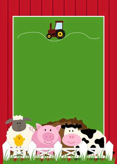 Free Printable Farm Party Invitations, Labels or Cards. Party Animals, Farm Animal Party, Farm Animal Birthday, Barnyard Party, Farm Birthday, 2nd Birthday Parties, Party Kit, Farm Party Invitations, Barn Parties