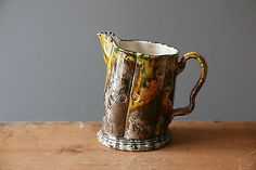 classic WALTER KEELER studio pottery EARTHENWARE whieldon JUG