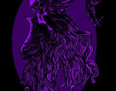 Horned goat by Martins Beast, Graphic Design Illustration, Dark Art, Digital Art, Purple, Gallery, Drawings, Creative, Artwork