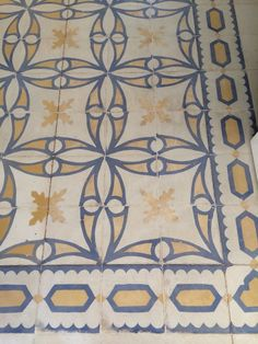 Floor tiles - our sitting room