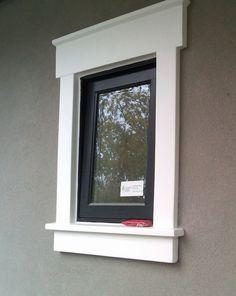 Contemporary Exterior Facade - Indian Home Exterior - - Tiny Bungalow Exterior - Techos Para Terrazas Exterior - Stucco Homes, Stucco Exterior, House Paint Exterior, Modern Exterior, Exterior Window Molding, Exterior Windows, Cottage Exterior, Stucco Siding, Ranch Exterior