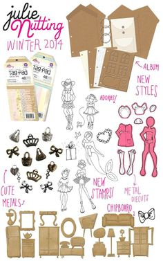 Some of the new Julie Nutting Prima Doll stamps, dies, and accessories arriving at Simple Pleasures very soon!