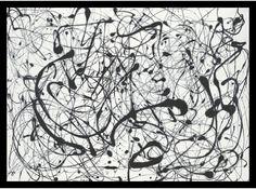"0-028539>29x21"" Jackson Pollock Number 14Gray Framed Print"