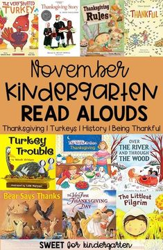Check out 20 of my favorite books to read aloud in November, all about Thanksgiving, turkeys, being thankful, and family. Thanksgiving History, Thanksgiving Books, Thanksgiving Activities, Kindergarten Thanksgiving, Kindergarten Books, Preschool Books, Preschool Activities, Writing Activities, Toddler Books