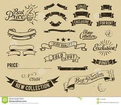 Vintage Sale Icon Set