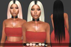 Minaj Hair [remesh] • Original hair: Ade-Anggun • 8 colors • No hat compatible • Custom thumbnail • Compatible with HQ Mod Download