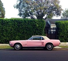 I had a pink Mustang in though not convertible . didn't want the pink, but price was too good to pass . it's the jaw-dropping beauty splurge! DAY 7 of the Pink Love, Pretty In Pink, Pretty Cars, Perfect Pink, My Dream Car, Dream Cars, Pink Mustang, Cars Vintage, Vintage Pink