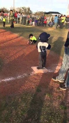 Batter was taking to long so Coop decided to bust a move on first base.