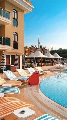 Club Candan in Marmaris, Dalaman Region, Turkey Best Hotels, Amazing Hotels, Marmaris Turkey, Great Hotel, Mansions, House Styles, Outdoor Decor, Holiday, Top