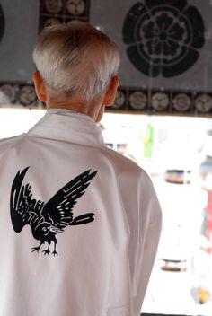 Tsuki Boko 3-legged Crow Haori     http://gionfestival.org/spiritual-origins/