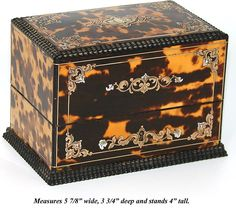 Antique French Tortoise Shell Boulle Casket,Tortoiseshell