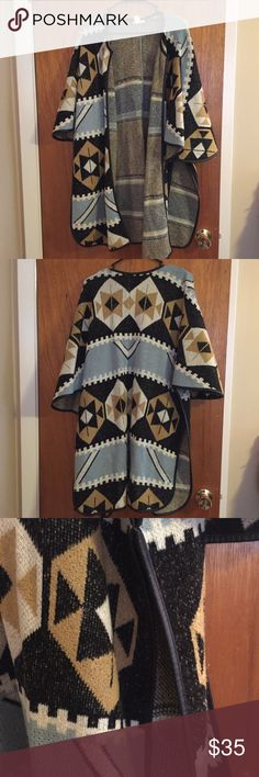 Cardigan H&M Aztec patterned cardigan with leather trim detail H&M Sweaters Cardigans