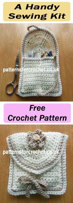 Handy Sewing Kit, store in your handbag or holiday bag. #crochet