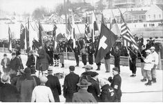 Opening Ceremony - Lake Placid, New York USA - 1932 Winter Olympic Games