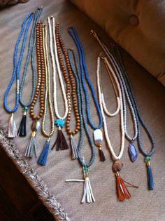 Tassel Jewelry, Fall Jewelry, Tassel Necklace, Jewelry Box, Jewelry Accessories, Jewelry Necklaces, Jewelry Design, Jewelry Making, Fashion Accessories