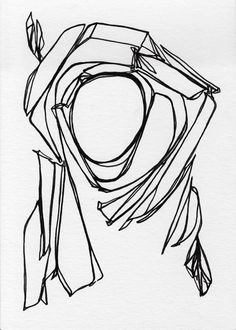 ORIGINAL Line Drawing Black and White Pen and Ink Ink on