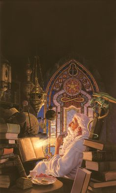The Wizard's Study Giclee