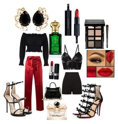 """Untitled #124"" by annestic on Polyvore featuring KamaliKulture, Helmut Lang, Giuseppe Zanotti, Christian Louboutin, Dolce&Gabbana, Bordelle, Christian Dior, Salvatore Ferragamo, Bobbi Brown Cosmetics and Clive Christian"