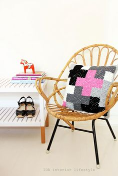 From my shop: crochet cushion with cross pattern by IDA Interior LifeStyle, via Flickr