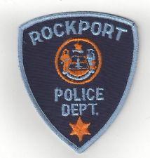 Vintage Rockport Police Department Shoulder patch Maine ME Sheriff