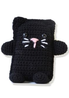 Amigurumi Cat - I used french knots for eyes and tucked a tiny pouch of catnip inside as a cute toy for my cat.