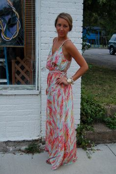 BLOG OF OUTFITS Maxi dress Southern Chic Check out Dieting Digest