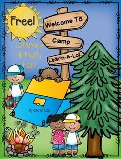 Freebie!  Camp Learn-A-Lot for First Grade Literacy and Math Activities