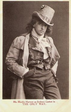 British actor-manager Sir John Martin Harvey (1863-1944) was one of the last great romantic actors of the English theatre. His most famous play was The Only Way (1899), an adaptation of Charles Dickens' A Tale of Two Cities.