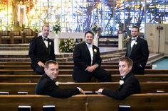 Wedding Day - The Boys - St. Thomas More Church - Reflections Creative Photography