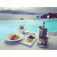 KIRINI Suites & Spa Hotel, Santorini | Perfect #lunch instagram by @nim_noi