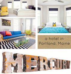 Mercury Inn: a hotel in Portland, Maine : : Design*Sponge #portlandME